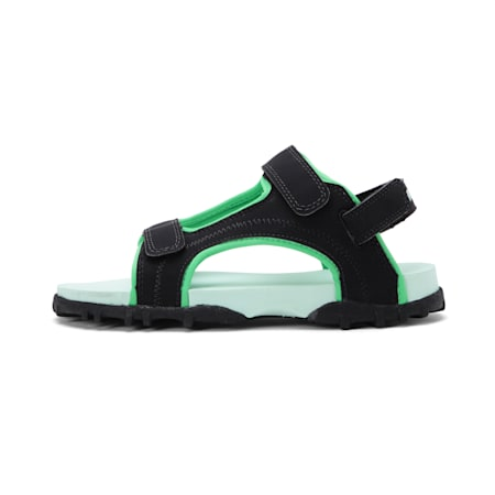 Bambi PS IDP Kid's Sandals, Black-FairAqua-ANDEAN TOUCAN, small-IND