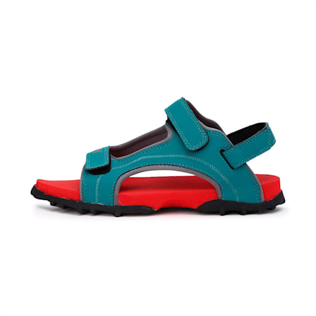 Bambi PS IDP Kid's Sandals, HighRiskRed-Teal Green-Black, small-IND