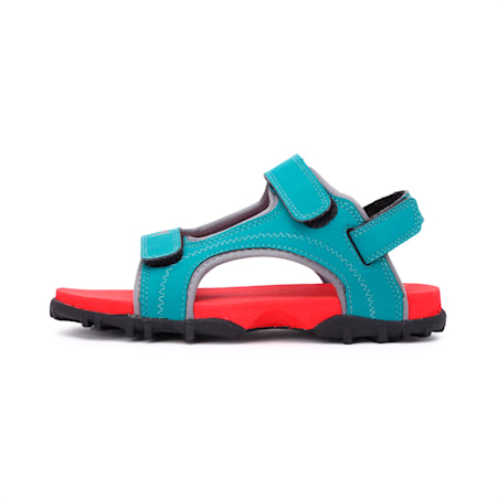 Bambi PS IDP Sandals, HighRiskRed-Teal Green-Black, small-IND