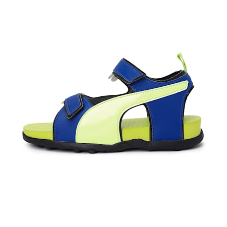 Shrek JR IDP Sandals, SurfTWeb-FizYellow-Black, small-IND