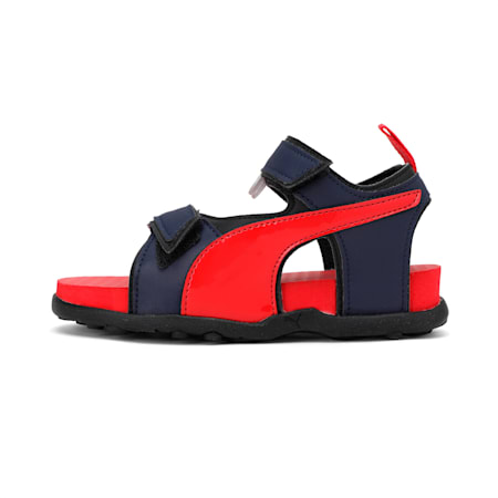Shrek PS IDP Kid's Sandals, Peacoat-High Risk Red-Black, small-IND