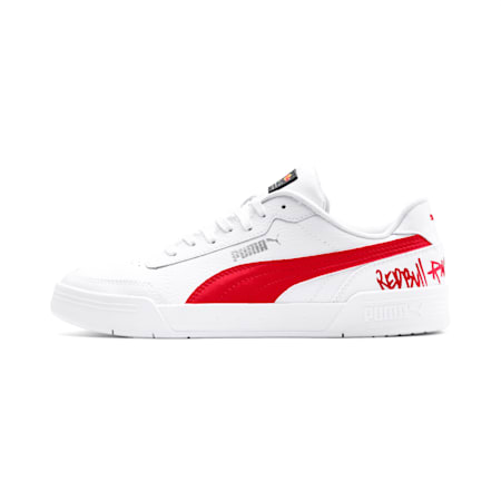 Red Bull Racing Caracal Shoes, Puma White-Chinese Red-White, small-IND