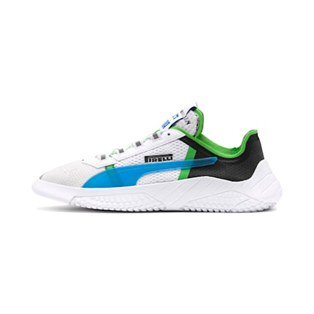 PUMA x PIRELLI Replicat-X Trainers, White-Black-Classic Green, small-SEA