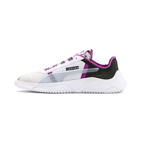 PUMA x PIRELLI Replicat-X Trainers, White-Hyacinth Viol-Red, small