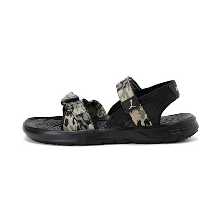 Stance X IDP Sandals, Burnt Olive-Pale Khaki-Black, small-IND
