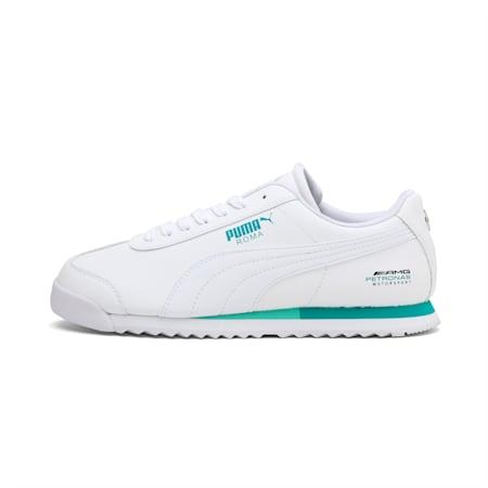 Mercedes Roma Unisex Shoes, Puma White-Puma White, small-IND