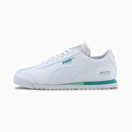 Zapatos deportivosMercedes AMG Petronas Roma para hombre, Puma White-Puma White, pequeño