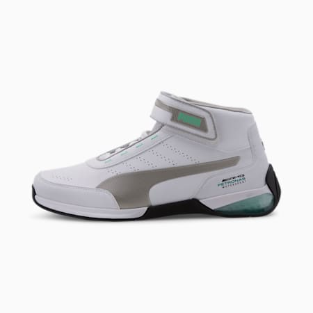 Mercedes Kart Cat LQDCELL Men's Shoes, Puma White-Puma Silver, small-IND