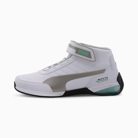 Mercedes Kart Cat LQDCELL Men's Shoes, Puma White-Puma Silver, small-IND
