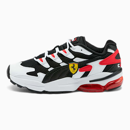 Scuderia Ferrari CELL Alien Men's Sneakers, P White-P Black-Rosso Corsa, small