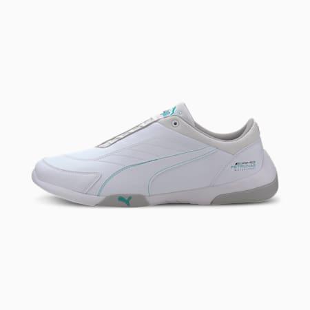 Zapatos de automovilismo Mercedes AMG Petronas Kart Cat III para hombre, Puma White-Puma White, pequeño