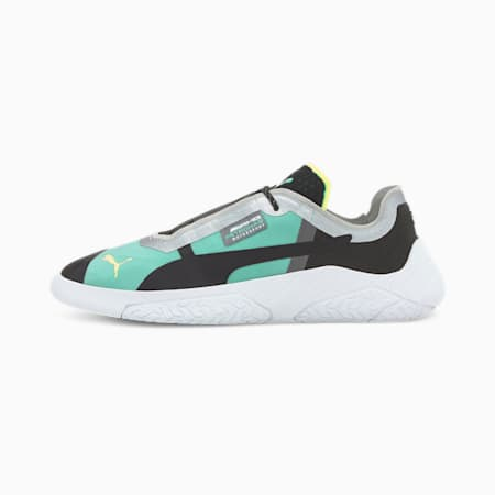 Mercedes Replicat-X Shoes, Black-White-Spectra Green, small-IND