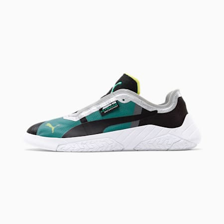 Mercedes AMG Petronas Replicat-X Men's Motorsport Shoes, Black-White-Spectra Green, small