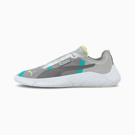 Mercedes Replicat-X Sneaker, Mrcds Tm Slvr-Wht-Spctra Grn, small