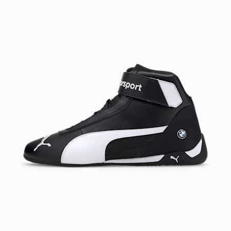 BMW M Motorsport R-Cat Shoes, Puma Black-Puma White, small-IND