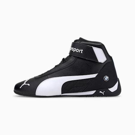 BMW M Motorsport R-Cat Mid Men's Motorsport Shoes, Puma Black-Puma White, small