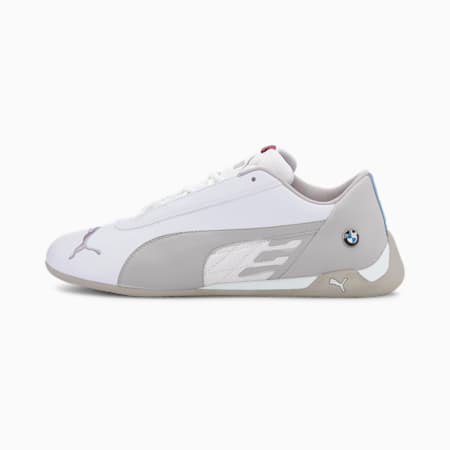 BMW M Motorsport R-Cat Men's Motorsport Shoes, Puma White-Puma White, small