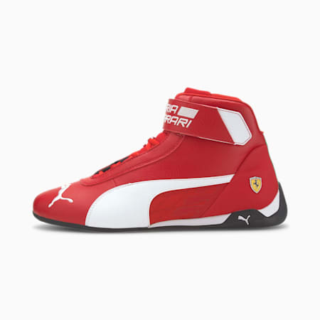 Scuderia Ferrari R-Cat Mid Men's Motorsport Shoes, Rosso Corsa-White-Black, small