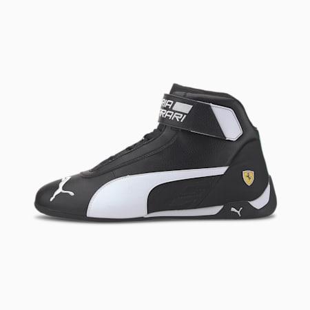 Scuderia Ferrari R-Cat Mid Men's Motorsport Shoes, Puma Black-White-Puma Black, small