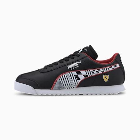 Zapatos deportivos Scuderia Ferrari Roma para hombre, Puma Black-Puma White, pequeño