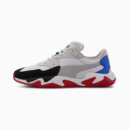 Basket Ferrari Storm pour homme, White-Silver-Black, small
