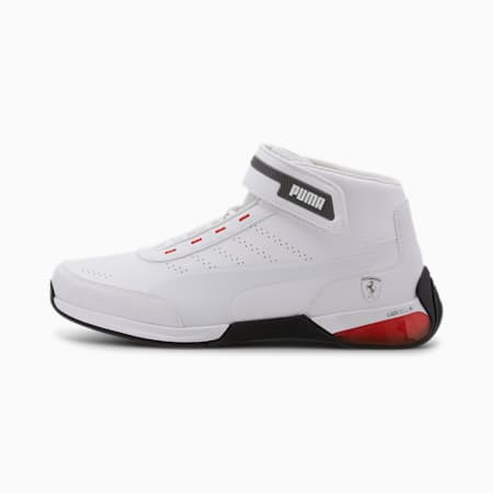 Scuderia Ferrari Kart Cat X Men's Shoes, Puma White-Puma White, small-IND