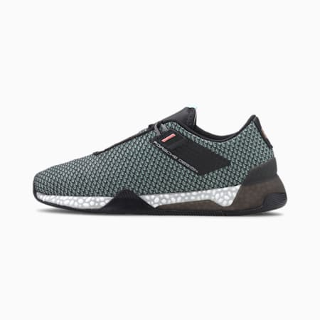 Porsche Design HYBRID Tourer Men's Running Shoes, Jet Black-Mist Green, small