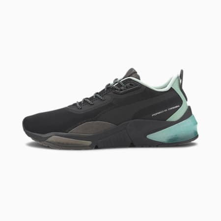 Zapatos de entrenamiento Porsche Design LQDCELL para hombre, Jet Black-Mist Green, pequeño