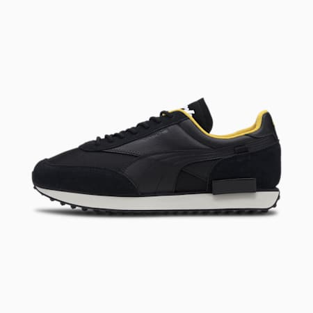 Porsche Legacy Future Rider Men's Trainers, Puma Black-Puma Black, small
