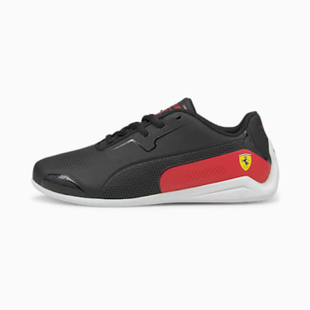 Scuderia Ferrari Drift Cat 8 sportschoenen voor jongeren, Puma Black-Rosso Corsa, small