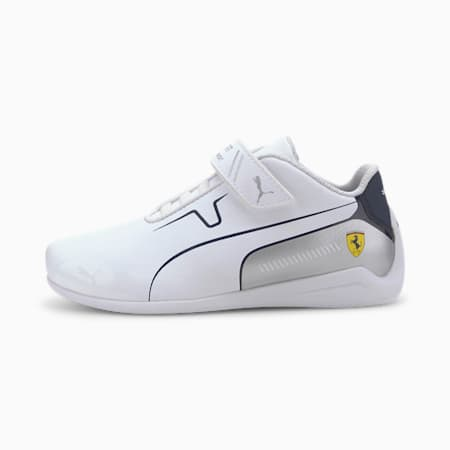Scuderia Ferrari Drift Cat 8 Little Kids' Shoes, Puma White-Peacoat, small