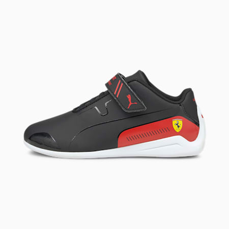 SF Drift Cat 8 V PS Unisex Shoes, Puma Black-Rosso Corsa, small-IND