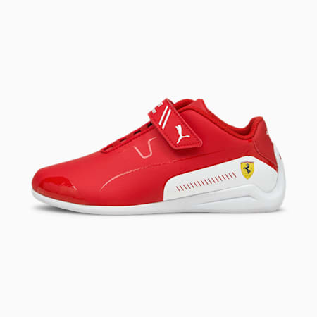 Ferrari Drift Cat Kids Sneaker, Puma White-Blue Spruce, small