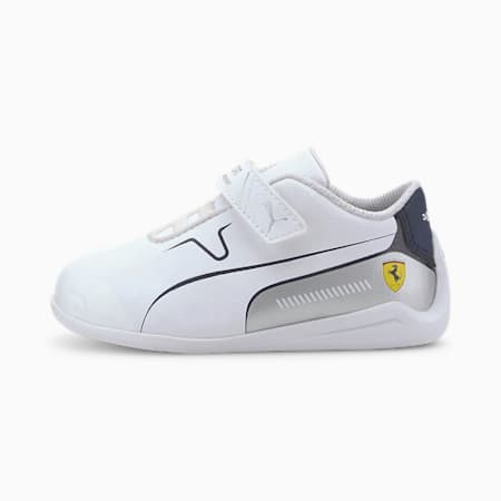 Scuderia Ferrari Drift Cat 8 Toddler Shoes, Puma White-Peacoat, small