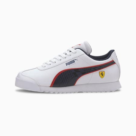 Scuderia Ferrari Roma Sneakers JR, Puma White-Peacoat, small