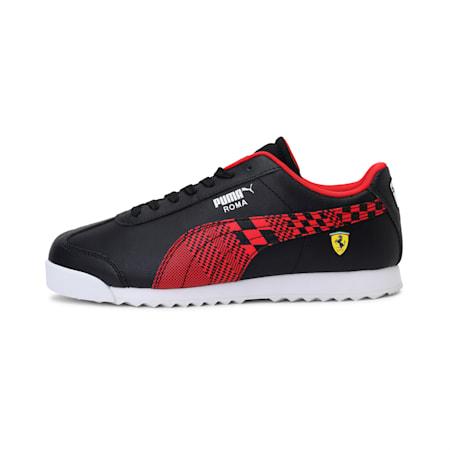 Scuderia Ferrari Roma Kid's Shoes, Puma Black-Rosso Corsa, small-IND
