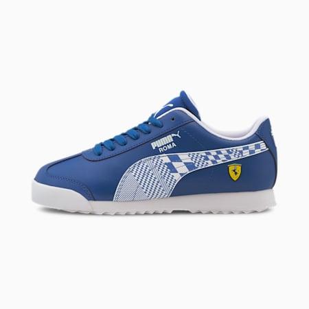 Zapatos deportivos Scuderia Ferrari Roma para JR, Olympian Blue-Puma White, pequeño