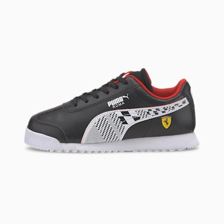 Scuderia Ferrari Roma Little Kids' Shoes, Puma Black-Puma White, small