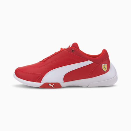 SF Kart Cat III Kid's Shoes, Rosso Corsa-Puma White, small-IND