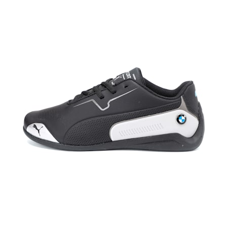 BMW M Motorsport Drift Cat 8 Youth Shoes, Puma Black-Puma Silver, small-IND