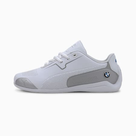 BMW M Motorsport Drift Cat 8 Youth Shoes, Puma White-Puma Silver, small-IND