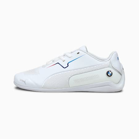 BMW M Motorsport Drift Cat 8 hardloopschoenen voor jongeren, Puma White-Puma White, small