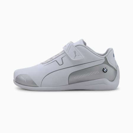 Chaussure de course BMW M Motorsport Drift Cat 8 V pour enfant, Puma White-Puma Silver, small