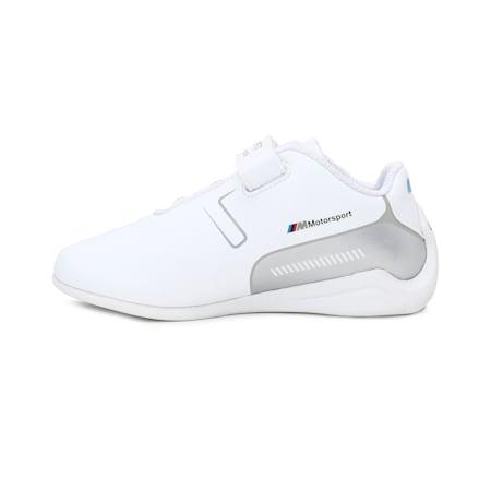 BMW M Motorsport Drift Cat 8 Kids' Shoes, Puma White-Puma Silver, small-IND