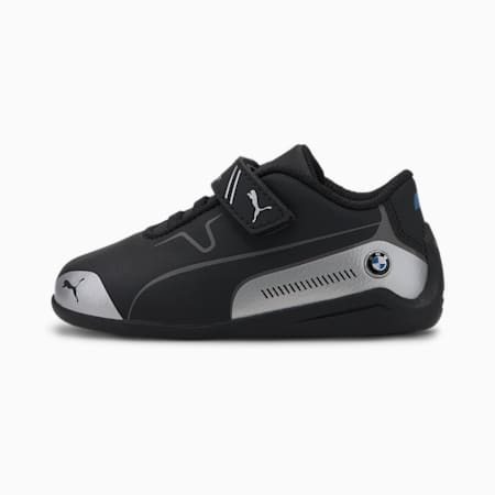 ZapatosBMW MMotorsportDrift Cat8 para bebé, Puma Black-Puma Silver, pequeño