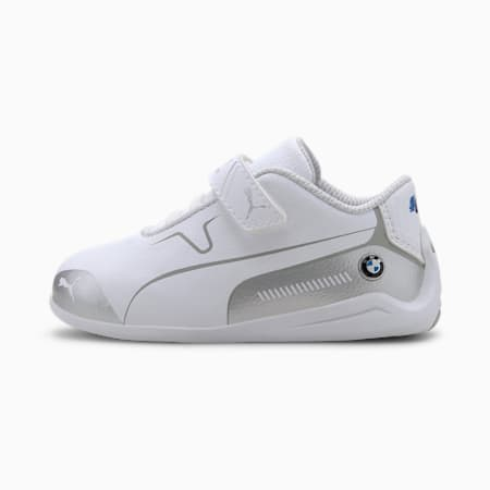 BMW M Motorsport Drift Cat 8 Toddler Shoes, Puma White-Puma Silver, small