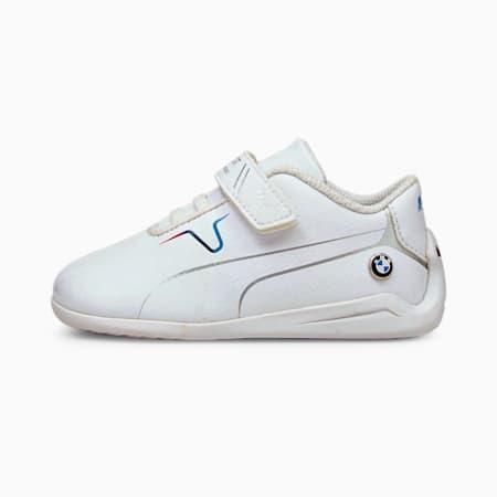 BMW M Motorsport Drift Cat 8 V Babies' Running Shoes, Puma White-Puma White, small