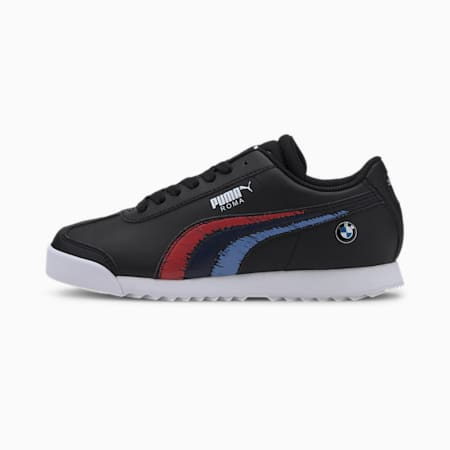 BMW M Motorsport Roma Sneakers JR, Puma Black-Puma Black, small