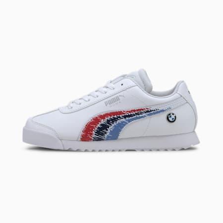 Zapatos deportivos BMW M Motorsport Roma para joven, Puma White-Puma White, pequeño
