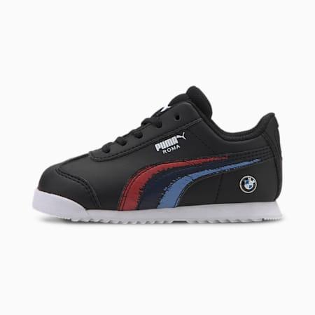 BMW M Motorsport Roma Toddler Shoes, Puma Black-Puma Black, small